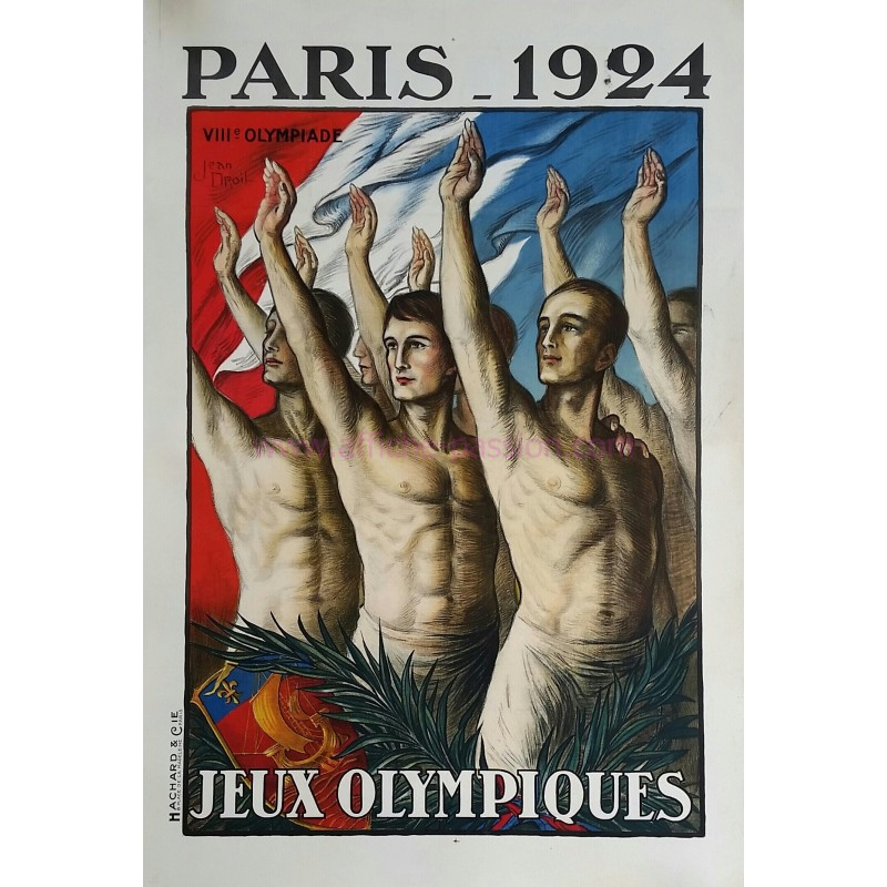 Original vintage poster VIII Olympic games Paris 1924 Jean DROIT