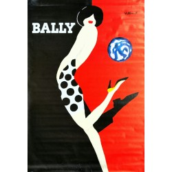 Original poster Bally kick - 67 x 47 inches - Bernard VILLEMOT