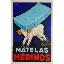 Affiche ancienne publicitaire originale Matelas Merinos 1951 Robys