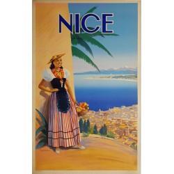 Affiche ancienne originale Nice Vincent GUERRA