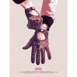 Original silkscreened poster limited edition Drive - Matthew Woodson - Mondo