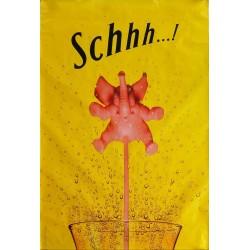 Affiche originale Schweppes Schhh éléphant rose 170 cms x 115 cms