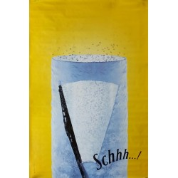 Original poster Schweppes Schhh windshield wiper 67 x 45 inches