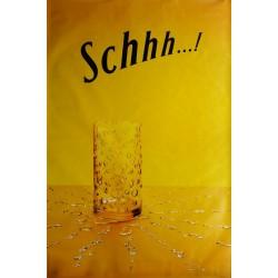 Affiche originale Schweppes Schhh verre et gouttes 170 cms x 115 cms
