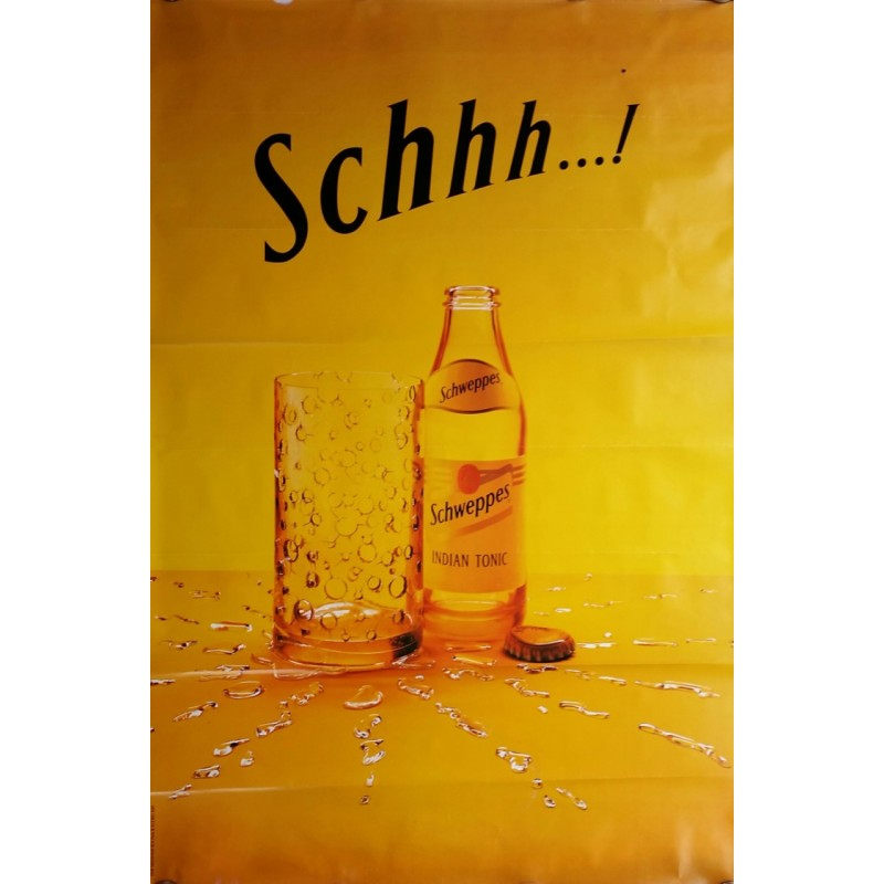 Original poster Schweppes Schhh indian tonic 67 x 45 inches