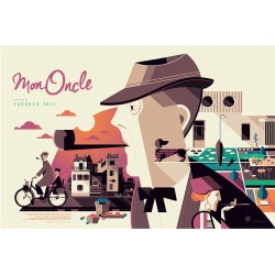 Original silkscreened poster limited variant Mon oncle Tom WHALEN  Nautilus Artprints