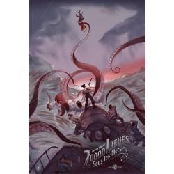 Original silkscreened poster variant 20000 Leagues under the sea - Jonathan BURTON  Nautilus Artprints