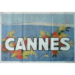 Original vintage poster Cannes - SEM