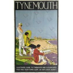 Affiche ancienne originale Tynemouth LNER 1924 - Alfred LAMBART