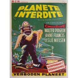 Original vintage cinema poster scifi Forbidden planet 1956