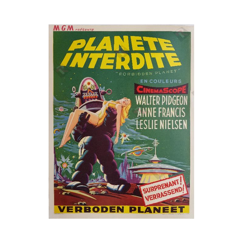 Affiche ancienne originale scifi Forbidden planet 1956