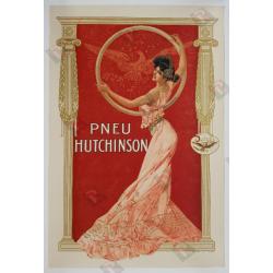 Affiche ancienne originale Pneu Hutchinson