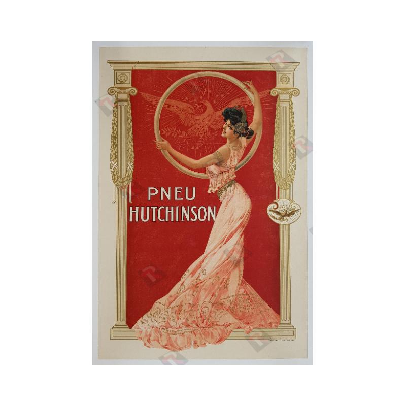Original vintage poster Pneu Tire Hutchinson