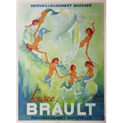 Affiche acienne originale Source Brault 1938 PH NOYER