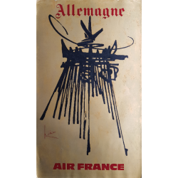 Original vintage poster Air France Allemagne - Georges MATHIEU