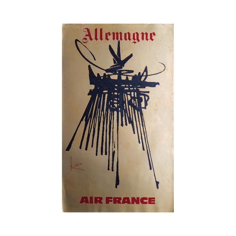 Original vintage poster Air France Allemagne - Georges MATHIEU