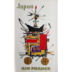 Original vintage poster Air France Japon - Georges MATHIEU
