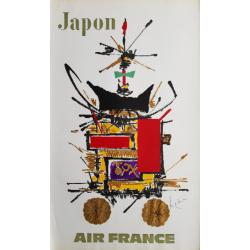 Original vintage poster Air France Japon - Georges MATHIEU