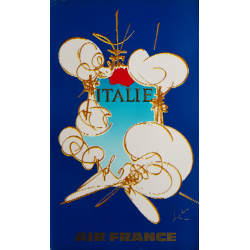 Original vintage poster Air France Italie - Georges MATHIEU