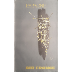 Original vintage poster Air France Espagne - Georges MATHIEU
