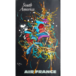 Original vintage poster Air France South America - Georges MATHIEU