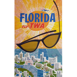 Original vintage poster Fly TWA Florida David KLEIN