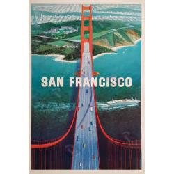 Original vintage poster San Francisco Golden gate Howard KOSLOW