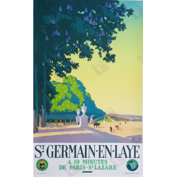 Original vintage poster Saint Germain en Laye Pierre COMMARMOND