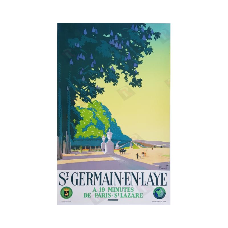 Affiche ancienne originale Saint Germain en Laye Pierre COMMARMOND