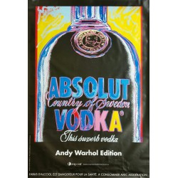 Original poster Absolut Vodka country of Sweden - 67 x 47 inches - Andy WARHOL