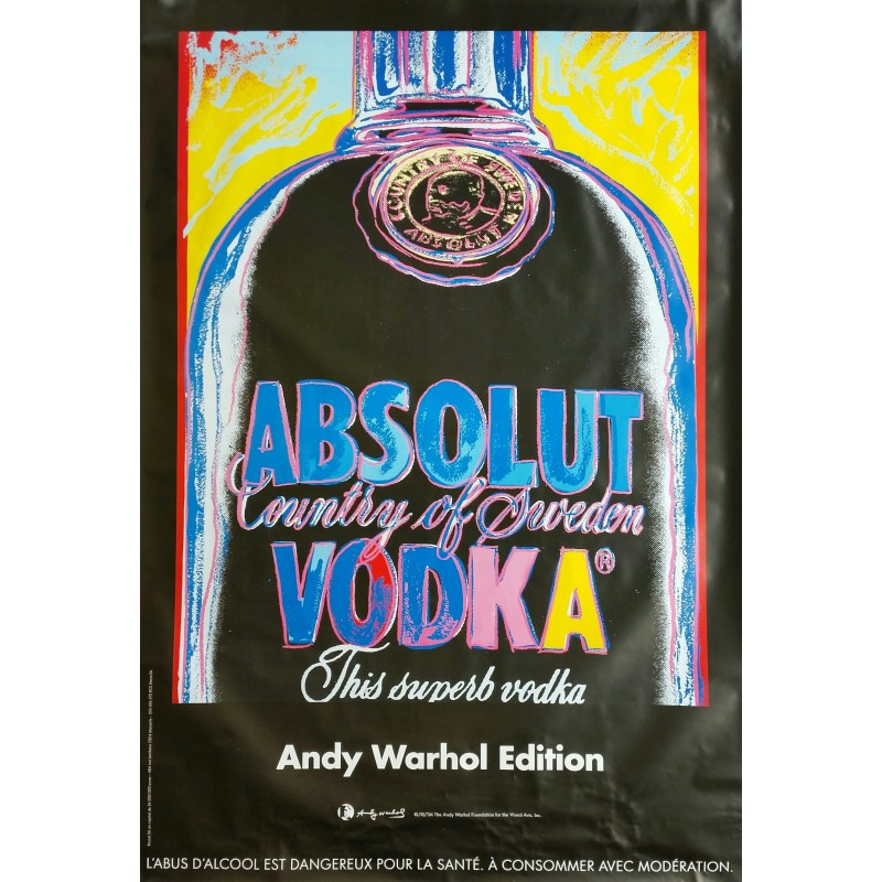 Affiche originale Absolut Vodka country of Sweden - 170 cms x 120 cms - Andy WARHOL