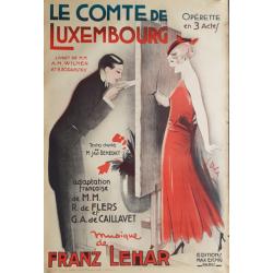 Affiche ancienne originale opérette Le comte de Luxembourg 1934 - Georges DOLA