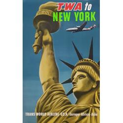Original vintage poster TWA...
