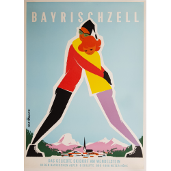 Original vintage poster ski...