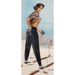 Affiche ancienne originale a glance back Pierre Laurent BRENOT