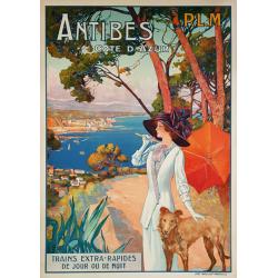 Original vintage poster Antibes Côte d'Azur PLM David DELLEPIANE