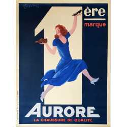 Original vintage poster Aurore chaussure de qualité Leonetto CAPPIELLO