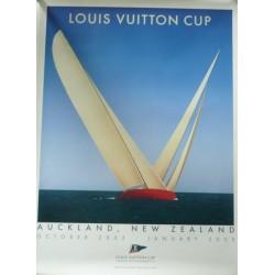 Original vintage poster Louis VUITTON Cup Auckland - RAZZIA