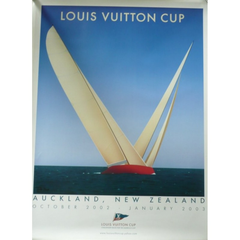 Affiche originale Louis VUITTON Cup Auckland - RAZZIA