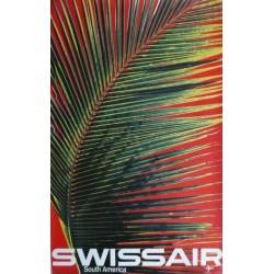 Alt original plakat SWISSAIR South America - Mandfred BINGLER