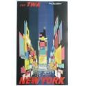 Affiche originale TWA New York petit format - David Klein
