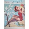 Original vintage poster compagnie aérienne Iberia Air lines of Spain Majorque Mallorca