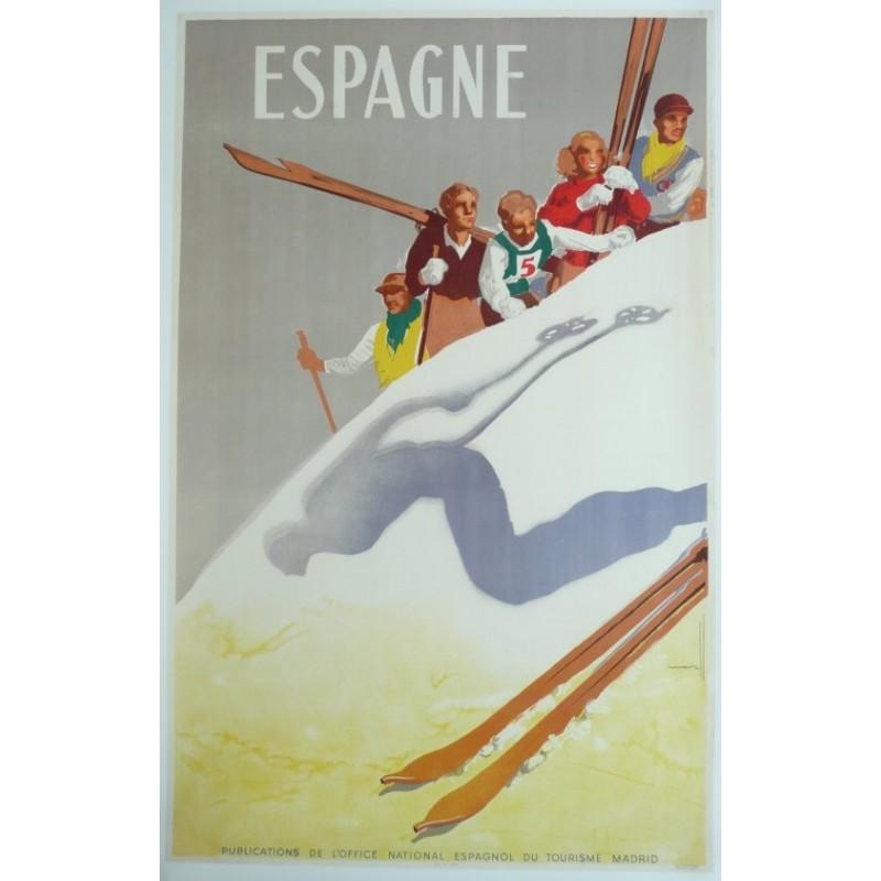 Affiche originale sport ski ESPAGNE - Josep MORELL MACIAS