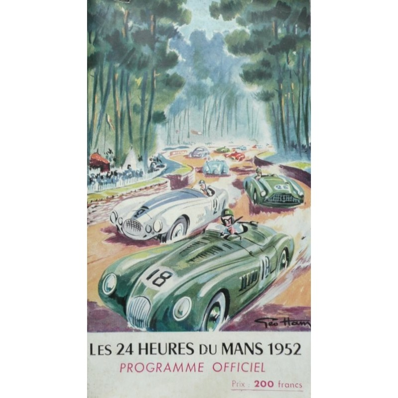 programme ancien original officiel des 24 heures du mans 1952 couverture geo ham en vente chez. Black Bedroom Furniture Sets. Home Design Ideas