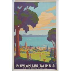 Affiche originale PLM golf Evian les bains - François GEO