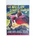 """Original vintage poster cinéma belge horreur hammer """" La nuit du loup-garou """" Universal film"""