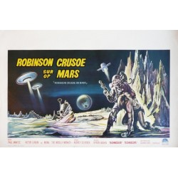 "Affiche originale cinéma belge scifi science fiction "" Robinson crusoe sur mars "" Paramount"