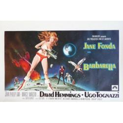 "Affiche originale cinéma belge scifi science fiction "" Barbarella "" Paramount"