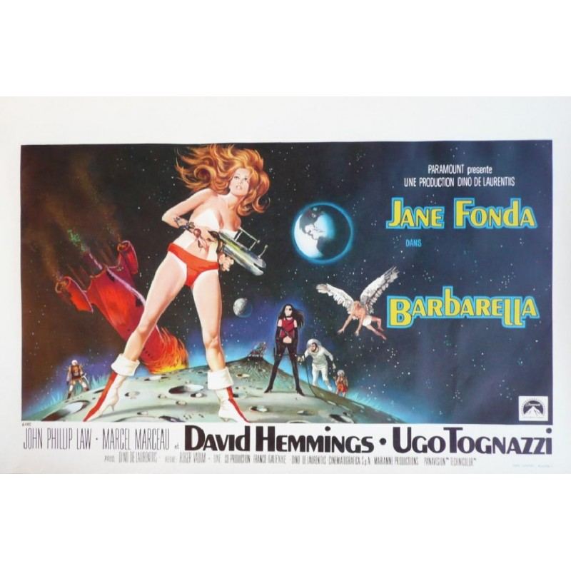 "Original vintage poster cinéma belge scifi science fiction "" Barbarella "" Paramount"