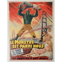"Original vintage poster cinema belgium scifi science fiction "" Le monstre est parmi nous """